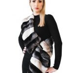 chinchilla fur collar scarf bolero boa