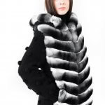 Luxury chinchilla fur jacket