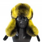 genuine chinchilla fur ushanka trooper earflap hat