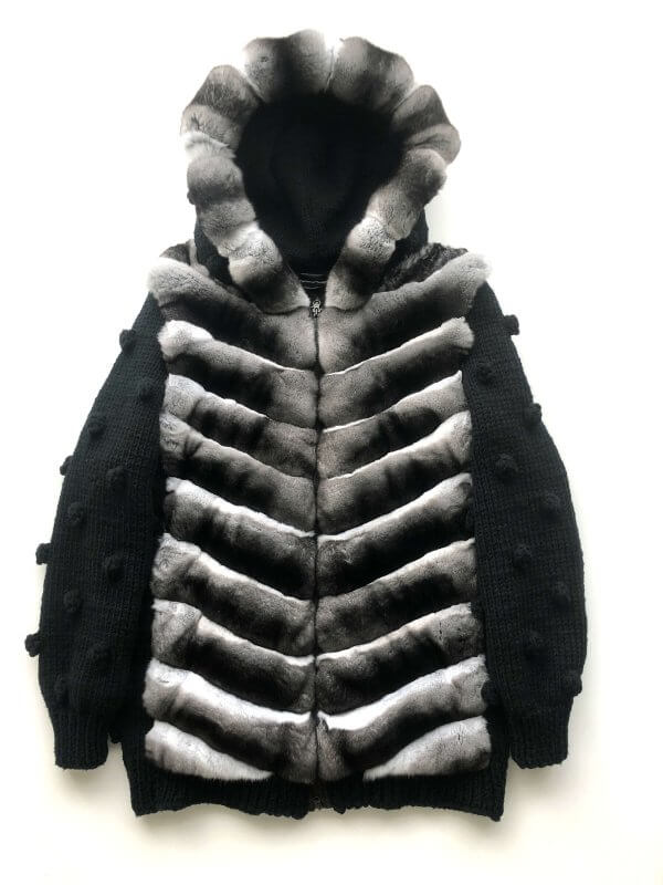 chinchilla fur bomber jacket