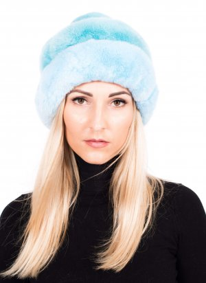 Genuine chinchilla fur hat