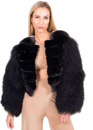 Chinchilla fur and mongolian lamb jacket