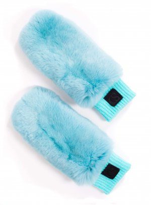 Genuine chinchilla fur mittens